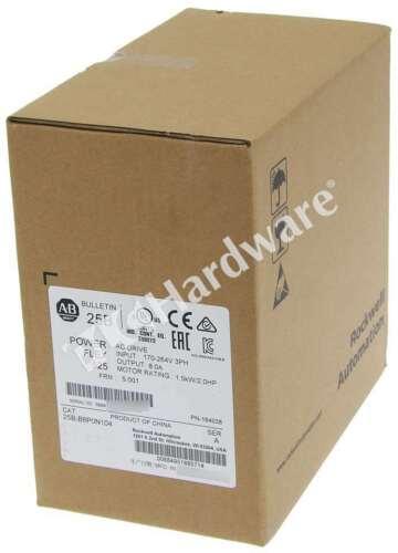 New Sealed Allen Bradley 25B-B8P0N104 /A PowerFlex 525 AC Drive 240V/8A/2HP