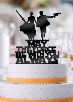 Star Wars Couple May The Force Be With You Always Wedding Cake Topper - Star Wars Wedding Cake Toppers