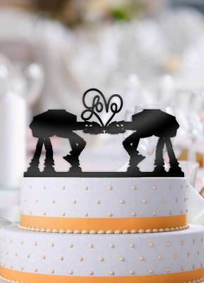 ATAT Imperial Walker Star Wars Love Wedding Cake Topper - Star Wars Wedding Cake Toppers