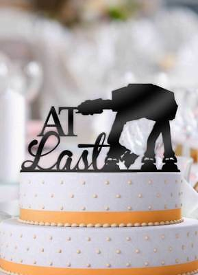 At Last ATAT Imperial Walker Star Wars Wedding Cake Topper - Star Wars Wedding Cake Toppers