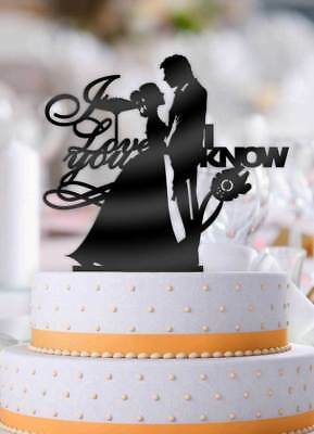 Star Wars Han and Leia I Love You, I Know Pt 1 Wedding Cake Topper - Star Wars Wedding Cake Toppers