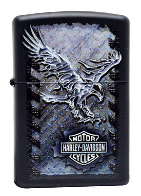 Iron Eagle Zippo Lighter (Zippo Harley Davidson Black Matte LIghter, Iron Eagle, #  28485, New In)