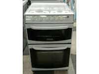 e344 white cannon 55cm double oven gas cooker comes with warranty can be delivered or collected