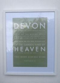 DEVON GLORIOUS DEVON wall frames, A3 designed, printed and framed in Topsham
