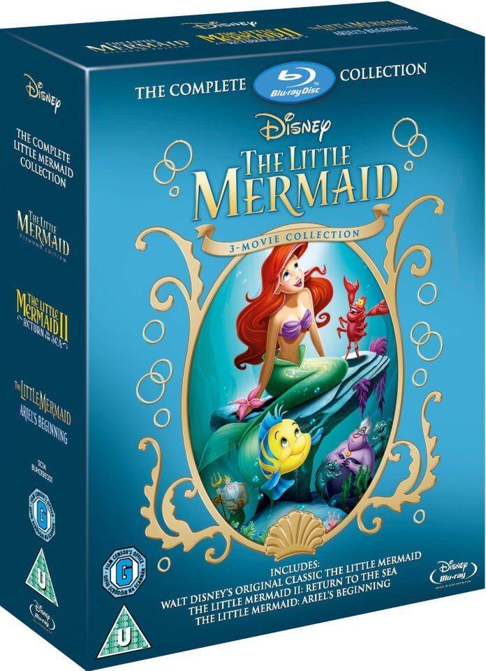 Little Mermaid Trilogy 1-3 Movie Collection Blu-Ray Box Set Disney NEW