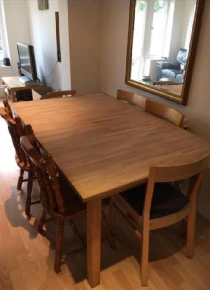 Solid Wood Extendable Dining Table PRICE REDUCED