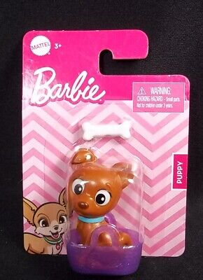 Barbie Pets Puppy in basket with bone NEW
