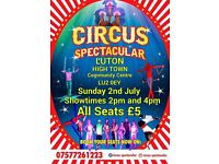 Circus Spectacular Show on Sunday 2nd July 2017!!