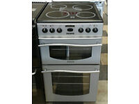 a118 silver leisure 50cm ceramic hob double oven electric cooker comes with warranty