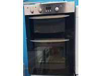 f215 silver & chrome built in integrated double oven comes with warranty can be delivered
