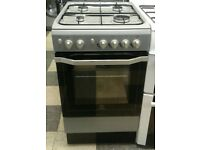 a718 silver indesit 50cm gas cooker comes with warranty can be delivered or collected