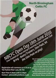 North Birmingham Celtic open day