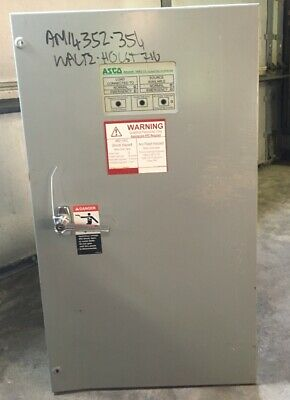 Asco Automatic Transfer Switch Series 300 70 Amp 480 V 60 Hz 3 Phase N0. A