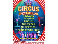 Circus Spectacular on Sunday 9th July 2017!!