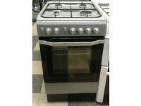 718 silver indesit 50cm gas cooker with warranty can be delivered or collected