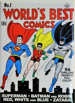 The World's Best Comics No.1 Fridge Magnet DC Comics Superman Batman Robin
