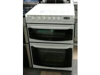 l393 white cannon 60cm double oven lpg cooker comes with warranty can be delivered or collected
