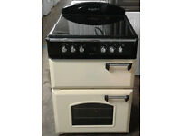 E429 cream leisure 60cm double oven ceramic hob electric cooker comes with warranty can be delivered