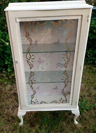 Vintage Glass Display Cabinet *upcycled & Unique*