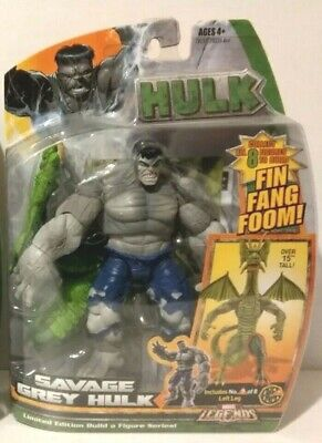 HASBRO MARVEL LEGENDS Fin Fang Foom BAF Series SAVAGE GREY HULK GRAY HULK- NEW