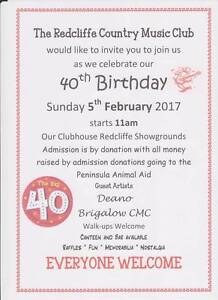 40th Birthday Celebrations Redcliffe Redcliffe Area Preview