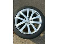 "Set 4 17"" riva alloys and tyres"