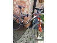 Cube full suspension mountain bike