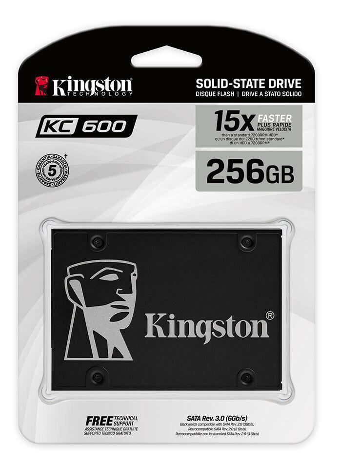 """Kingston KC600 256GB 256G 2.5"""" SATA III 3D TLC SATA3 SKC600"""