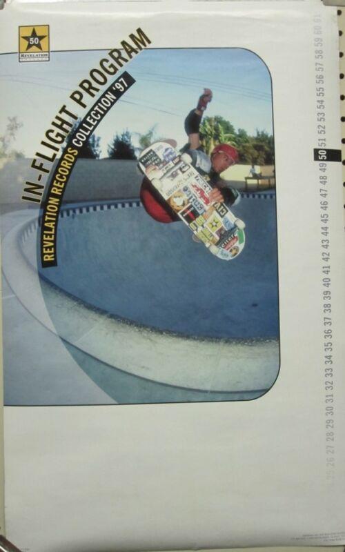 Steve Alba 1997 Revelation Records Skateboard promotional poster New Old Stock