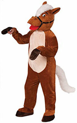 HENRY THE HORSE COMICAL ADULT HALLOWEEN COSTUME MEN STANDARD SIZE  - 2 Man Horse Costume