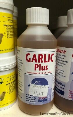 Stock Nutrition Garlic Plus 250ml  Pigeons Birds Vitamins Supplement BMFD