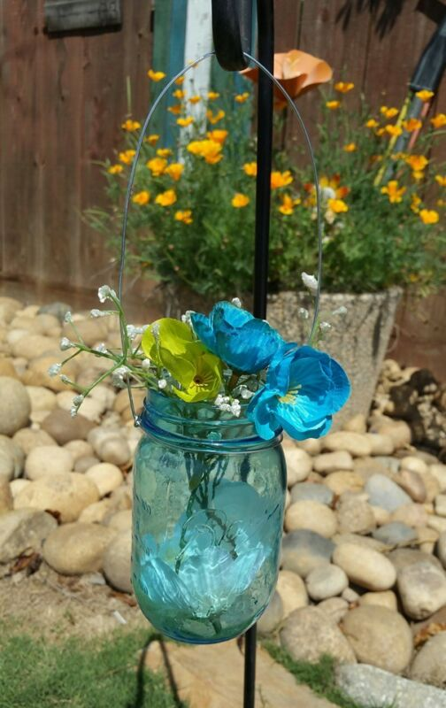 24 Wire Hanger Mason Jar Wide Mouth Wedding Flowers Decorative Reception Patio