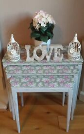 Upcycled Shabby Chic Nest of tables