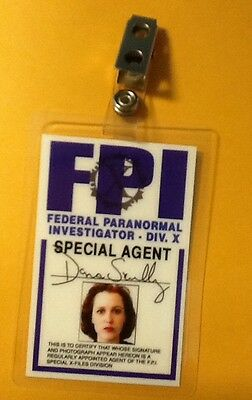 X-files TV Series ID Badge-Dana Scully costume prop cosplay