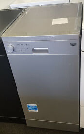 a152 silver beko slimline 45cm wide dishwasher comes with warranty can be delivered or collected