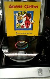 George Clinton – Do Fries Go With That Shake, VG, 12 inch single, released in 1986.