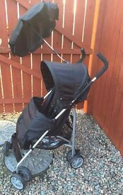 Virtually new Babystart pram buggy +extras perfect holiday stroller