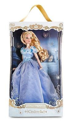 "Disney Store CINDERELLA 17"" DOLL-Limited Edition of 4000-from Live Action Movie"