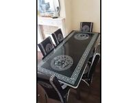 HIGH GLOSS EXTENDABLE DINING SET WITH 6 CHAIRS NOW IN STOCK