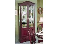 Superior quality Rossmore furniture - tall glass display cabinet + sideboard
