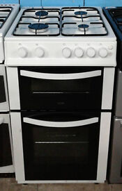 F439 white logik 50cm gas cooker comes with warranty can be delivered or collected