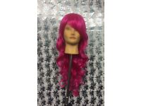 Electric pink wig