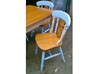 quality hand painted table and chairs