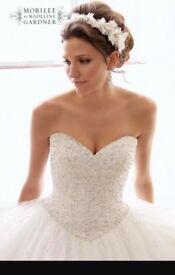 Mori Lee White Princess sparkle Wedding