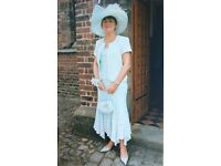 Complete Mother of the Bride Outfit, with Hat, Clutch Bag (Size 12)