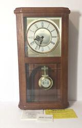 NOS Seiko Quartz Wooden Wall Pendulum Clock Westminster Whittington w/Chime