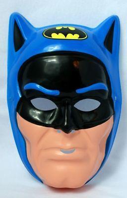 Vintage 80s Batman Super Hero Halloween Mask DC Blue Ben Cooper New York