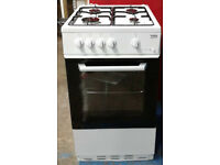 k515 white beko 50cm gas cooker new graded with 12 month warranty can be delivered or collected