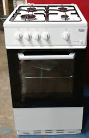 c515 white beko 50cm gas cooker new graded with 12 month warranty can be delivered or collected
