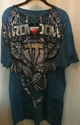 THROWDOWN BY AFFLICTION PREMIUM TSHIRT ADULT XL BRAND NEW FREE SHIPPING UFC MMA